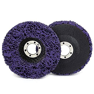 """2Pcs 4-1/2""""x7/8"""" Poly Strip Abrasive Disc Wheel Clean & Remove Paint?Rust and Oxidation for Angle Grinder 125x22mm"""