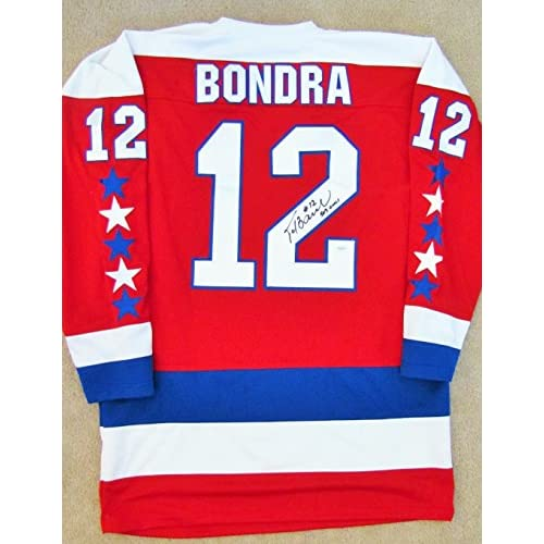 new style 9c4a8 b4f5f Peter Bondra Autographed Red Jersey - Washington Capitals ...
