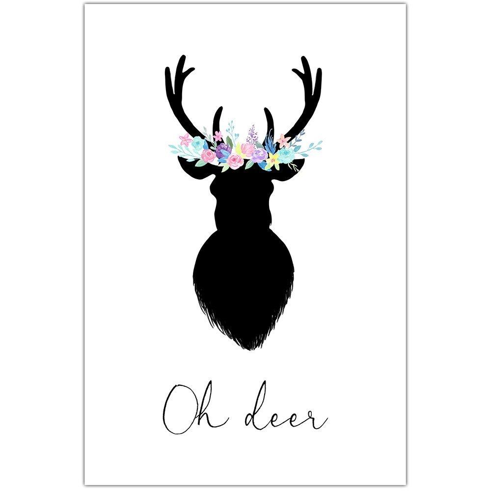 Floral Oh Deer Wall Art