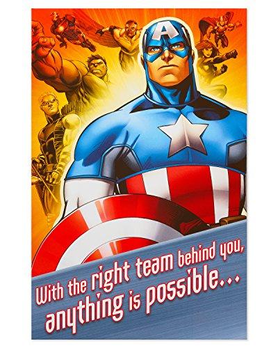 American Greetings Captain American Birthday Card for Boy -