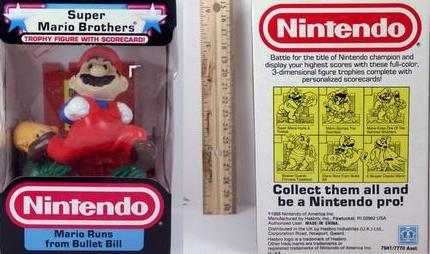 Nintendo Trophy Figure - Mario Runs From Bullet Bill (Toadstool From Mario)