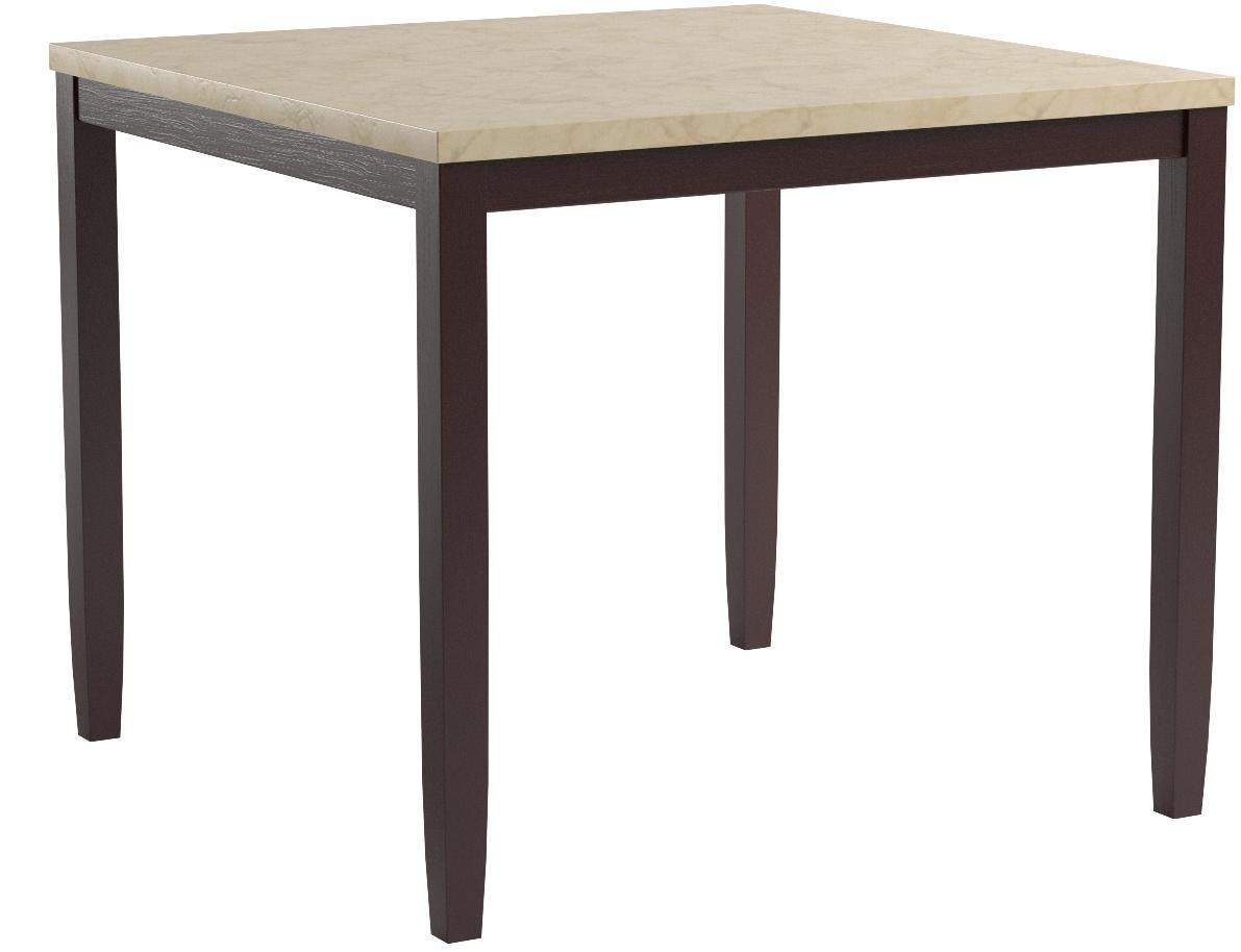 Poundex PDEX-F2338 Casual Styled Counter Height Table with Faux Marble Top, Multicolor by Poundex