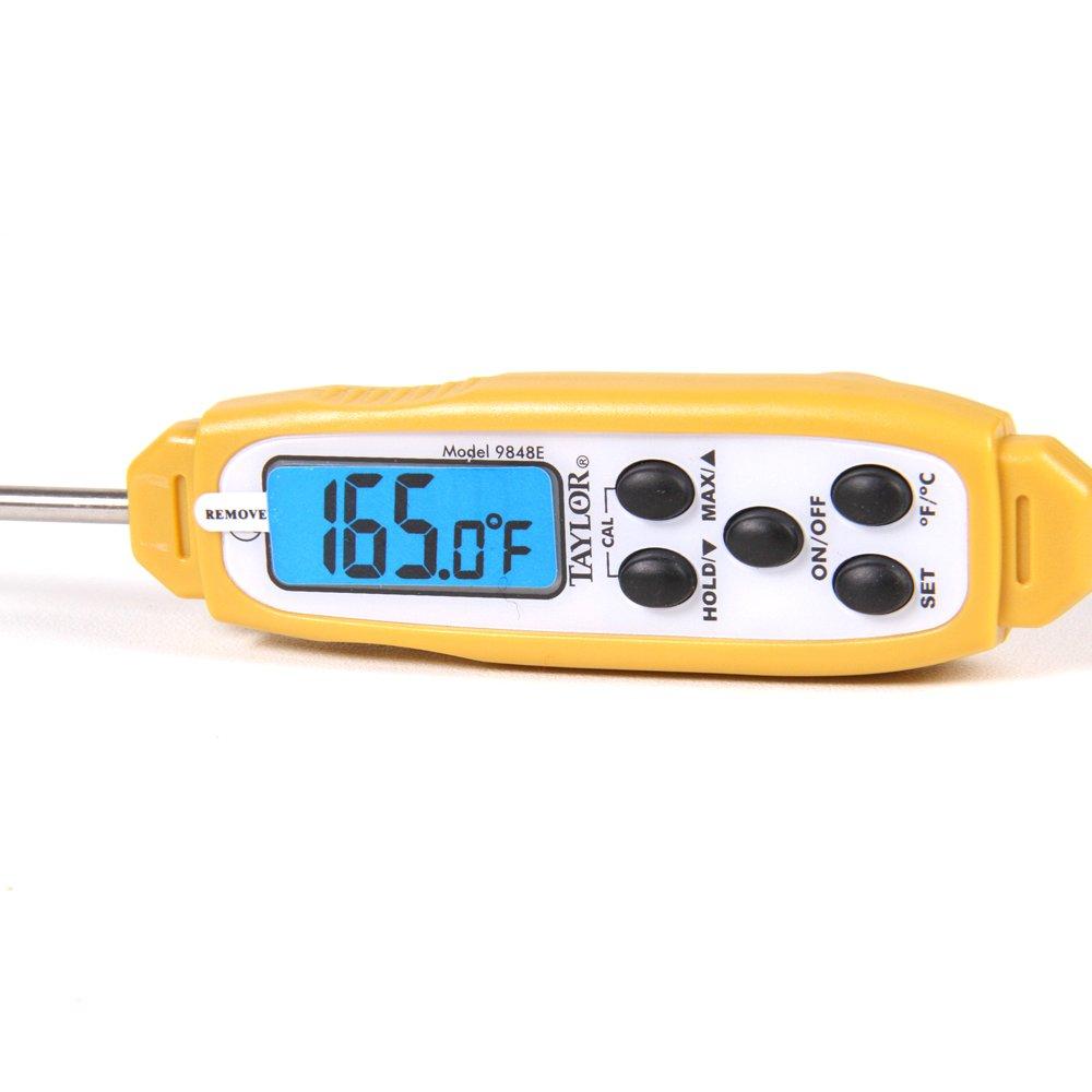 Taylor 9848E - Termómetro de cocina (CR2032, Litio) Amarillo: Amazon.es: Salud y cuidado personal
