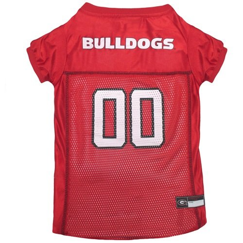 NCAA Dog Jersey, Large, University of Georgia Bulldogs
