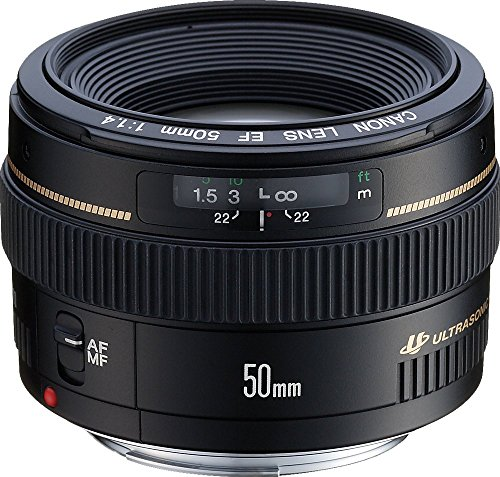 - Canon EF 50mm f/1.4 USM Standard & Medium Telephoto Lens for Canon SLR Cameras - Fixed