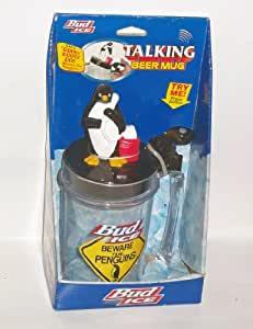 Bud Ice Talking Beer Mug - Beware The Penguins - Dooby Dooby Doo