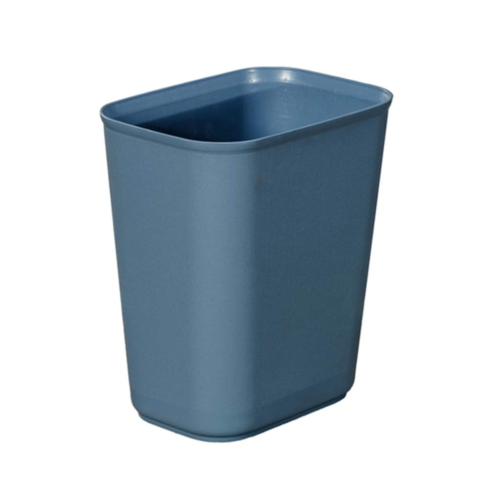 CSQ Solid Color Plastic Trash Can, 8L/15L Uncovered Trash Can, Hotel Hotel Toilet Trash Living Room Study Household Trash Can Indoor