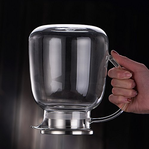 WarmCrystal, Large Glass Cold Teakettle, Pitcher and Carafe for Tea, Coffee, Lemonade and Ice Teapot (64 oz) by WarmCrystal (Image #6)