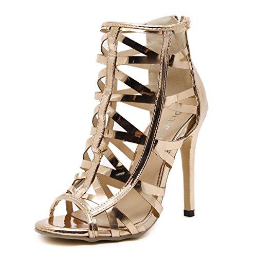 De alta Zapatos Yellow Cm 17 Color TacóN OcultacióN De Zapatos Del De La Partido De Impermeable Mujeres Días alto Hechizo Mesa Xvpvw