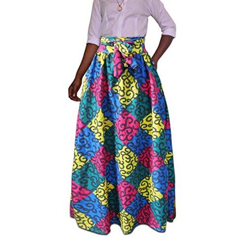 Femme avec Bandage Skirt Jupe New Taille Vintage Haut Jupe Femme Chic Bleu Longue axwqwgzBT