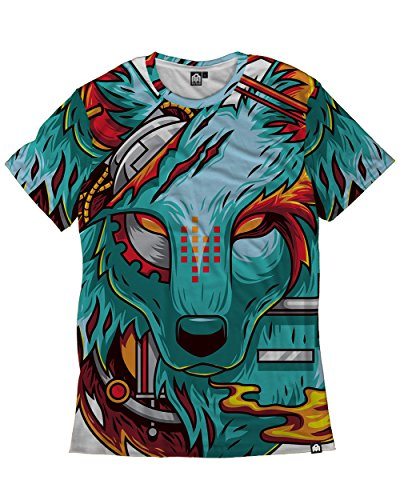 INTO THE AM Digital Wolf Premium Men's All Over Print Tee - Festival What To Music To Wear Summer