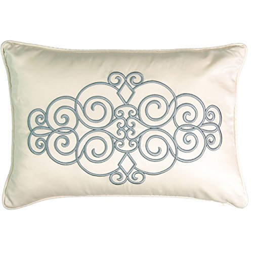 Beautyrest 16314014X020SEB Avignon 14-Inch by 20-Inch Embroidered Decorative Pillow, Smokey (Avignon Pillow)