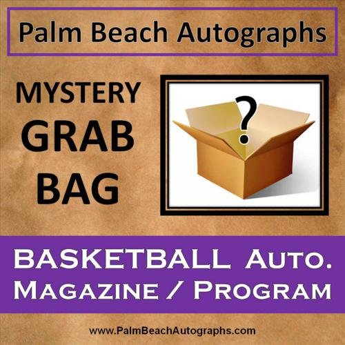 Magazine Autographed Program (MYSTERY GRAB BAG - Autographed Basketball Magazine / Program)