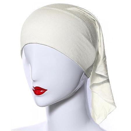 Ksweet 4 x Pañuelo Islamico Mujer Balaclava Hijab Sombrero Tube Bonete (Black+Beige+KQ+Plum): Amazon.es: Deportes y aire libre