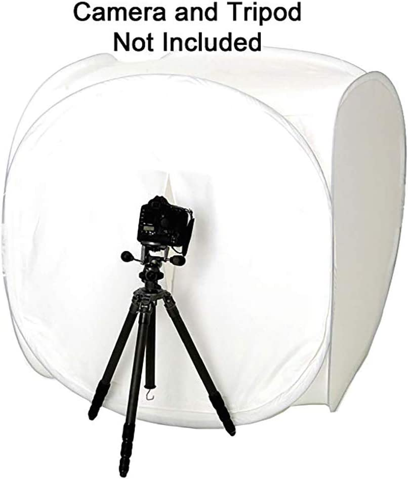 DMSYD 59/×59inch Very Large Photo Studio Foldable Portable Round Photography Shooting Tent Light Box with 4 Colors Background Red, Blue, Black, White
