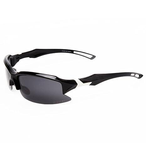 HTRPF Occhiali da sole sportivi polarizzati Protezione UV400 Uomo e donna Universal Outdoor equitazione Arrampicata Pesca e altre attività all'aperto, white