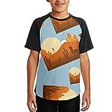 P0nh Shirt Adventure You Say Alpaca My Bags Youth 3D Print Baseball T-Shirt Short Sleeve Round Neck Raglan Tops