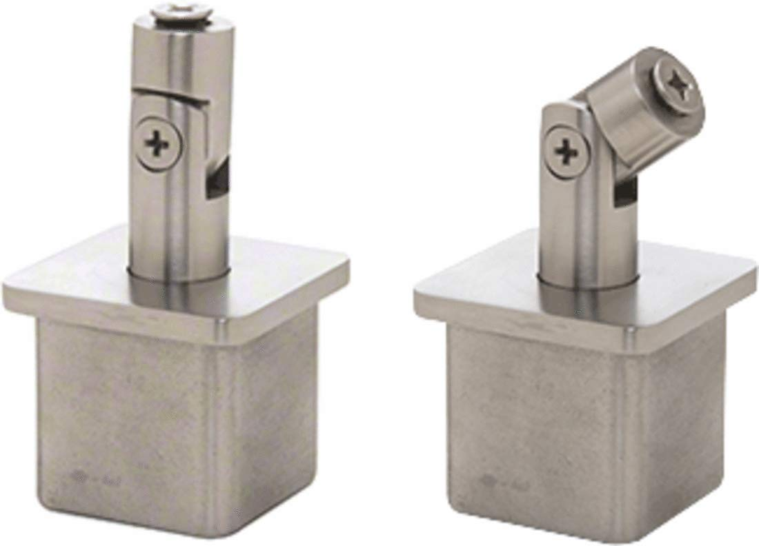 CRL Brushed Stainless Vertically Adjustable Post Caps for Standoff Saddles