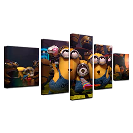 DRNXP 5 Piezas Modern Wall Art Picture HD Painting on Canvas ...