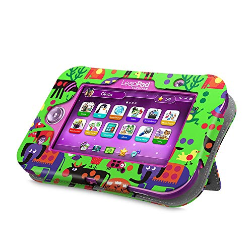 - Fintie LeapPad Ultimate Case - Kids Friendly [Hands Free] Dual Viewing Angle Premium Vegan Leather Stand Cover for 7-Inch Leapfrog LeapPad Ultimate Ready for School Tablet, Zoo