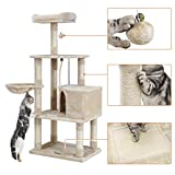 FEANDREA Cat Tree with Scratching Board, Basket