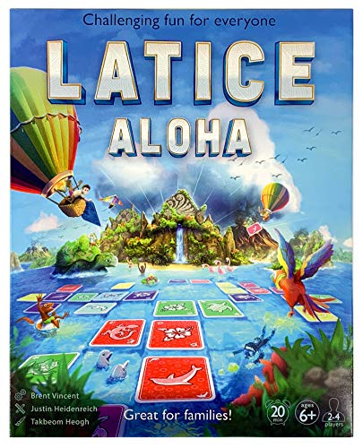 Latice Cards Aloha Strategy Game - The Popular New Family Game for Kids and Adults, Challenging Fun for Everyone