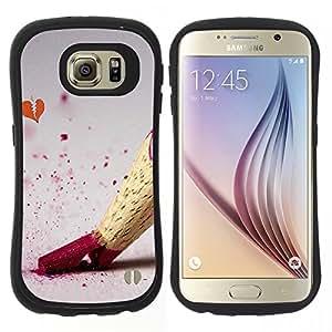 Hypernova Slim Fit Dual Barniz Protector Caso Case Funda Para Samsung Galaxy S6 [Disegno matita di colore]