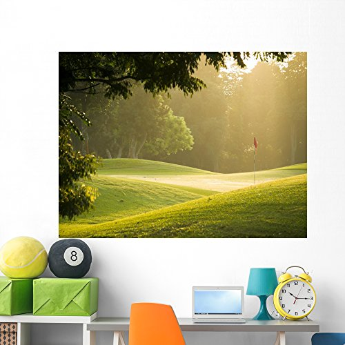 Golf Course Wall Mural by Wallmonkeys Peel and Stick Graphic (60 in W x 45 in H) WM337040