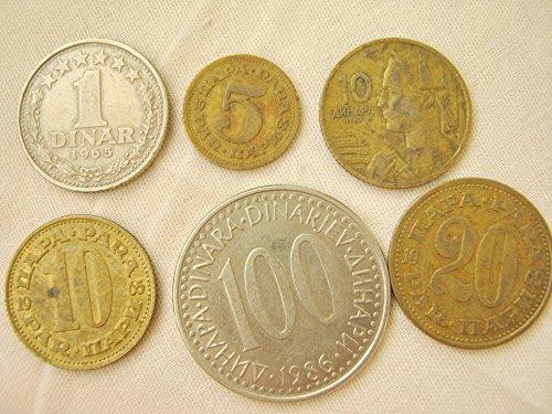 Yugoslavia RS 1963 Coins of Dinar Dinara Para Pre-Euro Coins 1963-1986 (7 coins) Very Fine