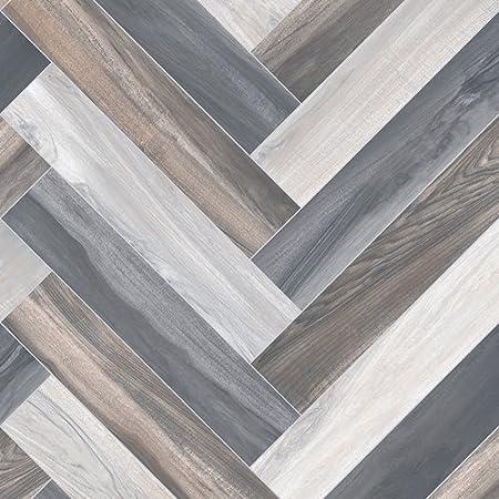 3m X 3m Ftw Herringbone Effect Washed Light Wood Cushion Floor