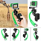 Fantaseal 3-Axis Inertia Gyro Stabilizer w/ GoPro Remote Control Holder Clip for GoPro Grip Handle GoPro Stabilizer GoPro Gimbal for GoPro Hero 5 / 4 / 3+ /3 / Hero+LCD