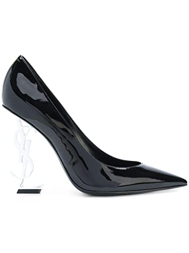 Image Unavailable. Image not available for. Color  Saint Laurent Women s  472011D6cnn1000 Black Leather Pumps 6c61e2e8e2