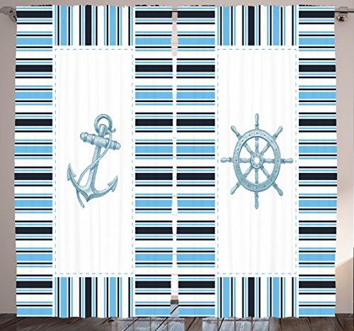 Curtain Ambesonne Nautical Geometric Curtains