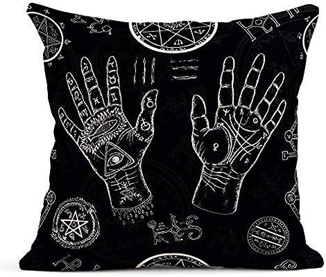 Kinhevao Cojín Brujería Quiromancia Manos humanas Pentagrama y ...