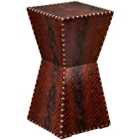 SEI Warrington Faux Leather Accent Table