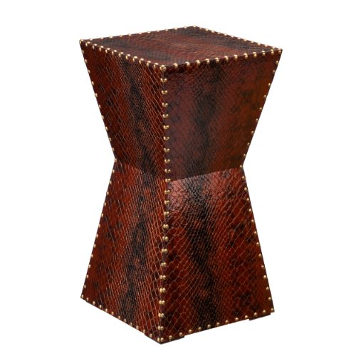 SEI Warrington Faux Leather Accent Table - Leather Accent Table
