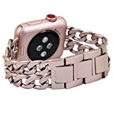 No1seller Stainless Steel Apple Watch Band for Series 1, Series 2, 42mm - Rose Gold