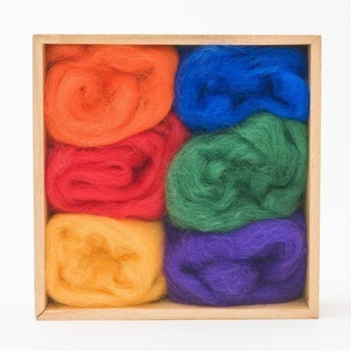 Wool Roving Rainbow Colors by WoolPets Wool Pets BCAC20319 WP5109