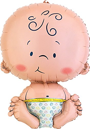 - Anagram International Welcome Baby Shape Foil Balloon, 24