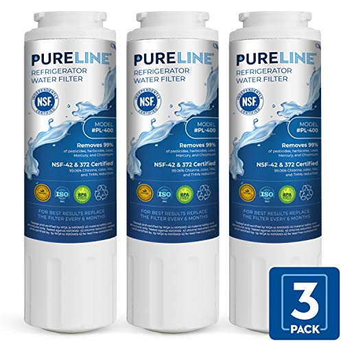 PURELINE UKF8001 Water Filter. Compatible Filter for Maytag (Whirlpool) UKF8001, UKF8001AXX-750, UKF8001AXX-200, EveryDrop Filter 4, EDR4RXD1, PUR 4396395, Jenn Air, Puriclean II (3 Pack) (Pur Filter Ukf8001 Water Maytag)