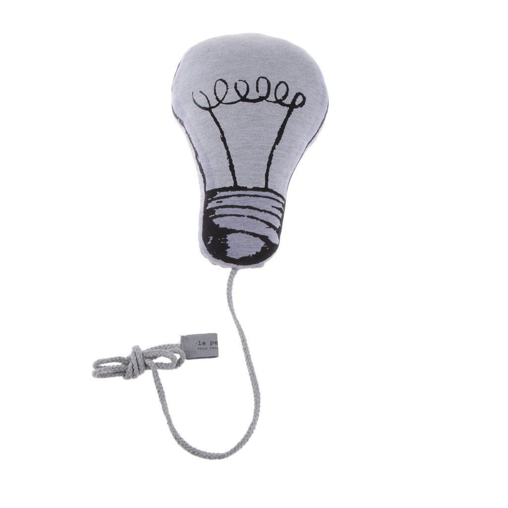 Primi decoración del hogar lámpara bombilla forma luminoso cojín bebé juguete NWKTHFFB422
