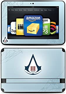 "product image for Kindle Fire HD 8.9"" Skin Kit/Decal - Assassin's Creed 3 Crest, Blue (will not fit HDX models)"