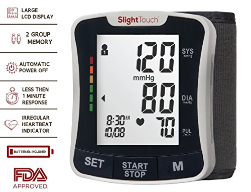 Slight Touch Fully Automatic Wrist Digital Blood Pressure Cuff (Large Image)