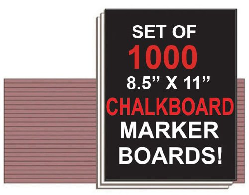 NEOPlex Student Laptop Chalkboard Marker Boards - Set of 1,000 by NEOPlex (Image #1)