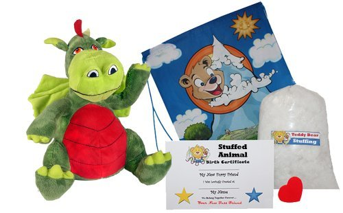 mejor servicio Make Your Own Stuffed Animal Fearless the the the Friendly Dragon - No Sew - Kit With Cute Backpack  by Stuffems Juguete Shop  hasta un 50% de descuento