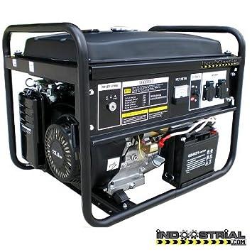 GENERADOR INDOOSTRIAL DOOS.7K.POWERE | 5.500 W | Arranque eléctrico | Regulación del voltaje mediante AVR: Amazon.es: Bricolaje y herramientas