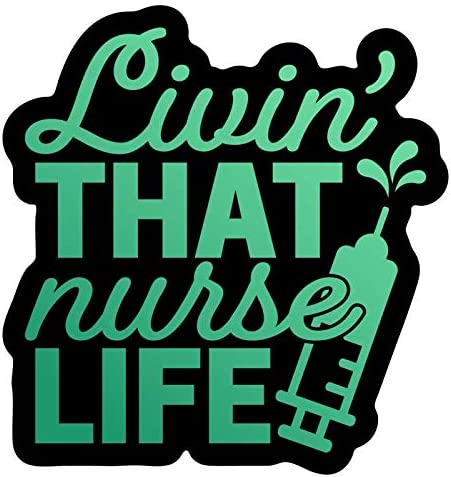 More Shiz Livin That Nurse Life Vinyl Decal Sticker MKS1369 Car Truck Van SUV Window Wall Cup Laptop One 5.5 Inch Decal