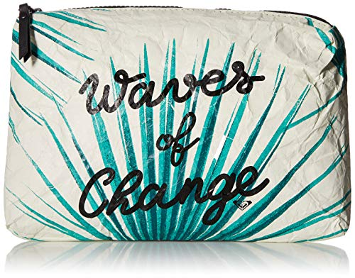 (Roxy Seaside Love Recycled Paper Beach Pouch, marshmallow)