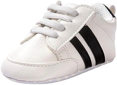 Zapatos de bebé Primeros Pasos Calzado Deportivo de Cuero Antideslizante Inferior Suave para niños niñas pequeños Infantiles Botas Zapatillas: Amazon.es: Ropa y accesorios