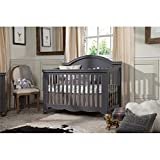 Million Dollar Baby Etienne 4-in-1 Convertible Crib with Toddler Bed Conversion Kit, Manor Grey